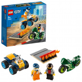 Конструктор ЛЕГО Город Turbo Wheels Команда каскадёров 60255 LEGO City  фото