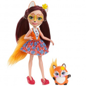 Mattel Enchantimals DVH89 Кукла Фелисити Лис, 15 см фото