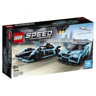 LEGO 76898 Formula E Panasonic Jaguar Racing GEN2 car & Jaguar I-PACE eTROPHY фото