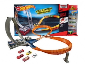 Hot Wheels X2586 Figure 8 Raceway + 6 машин фото
