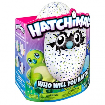 Дракоша - интерактивный питомец, вылупляющийся из яйца Hatchimals 19100-DRAG-GREEN Хетчималс фото